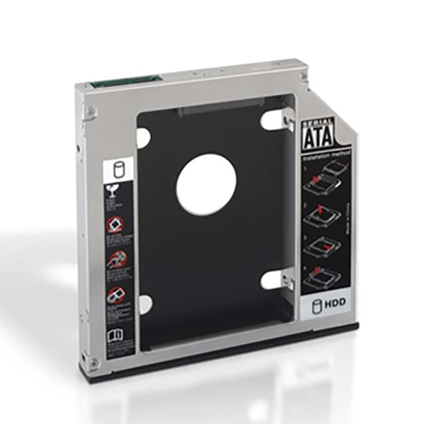 "Image of 2-Disc Metaladapter (3,5"" / 8,89 cm) NANOCABLE APTAPC0555 10.99.0002 Sort Metal"