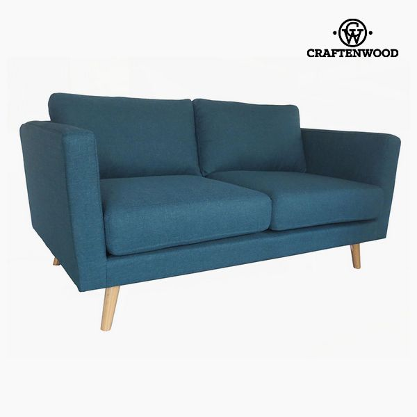 Image of   2 personers sofa Fyr Polyester Blå (148 x 88 x 83 cm) by Craftenwood