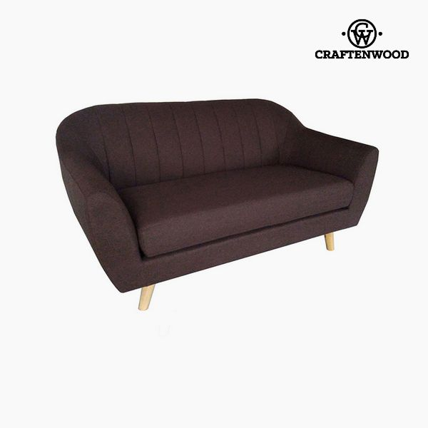 Image of   2 personers sofa Fyr Polyester Brun (145 x 83 x 83 cm) by Craftenwood