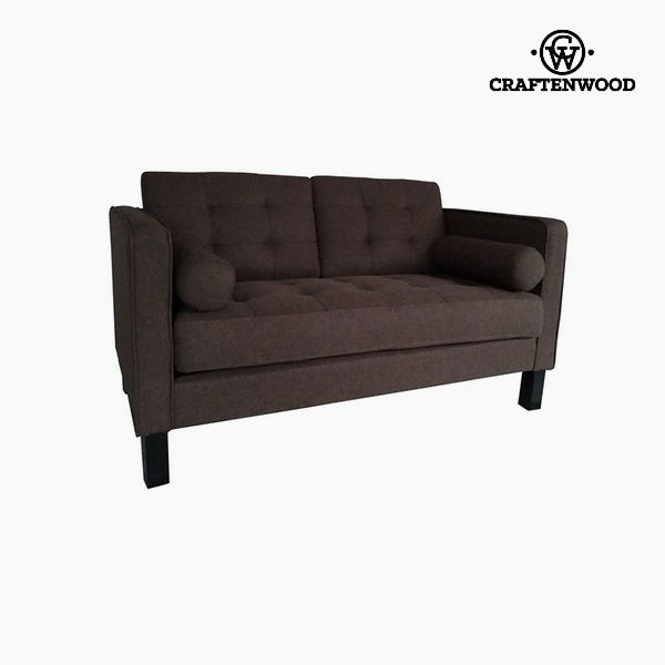 Image of   2 personers sofa Fyr Polyester Brun (149 x 81 x 81 cm) by Craftenwood