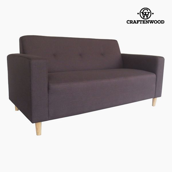 Image of   2 personers sofa Fyr Polyester Brun (167 x 82 x 81 cm) by Craftenwood