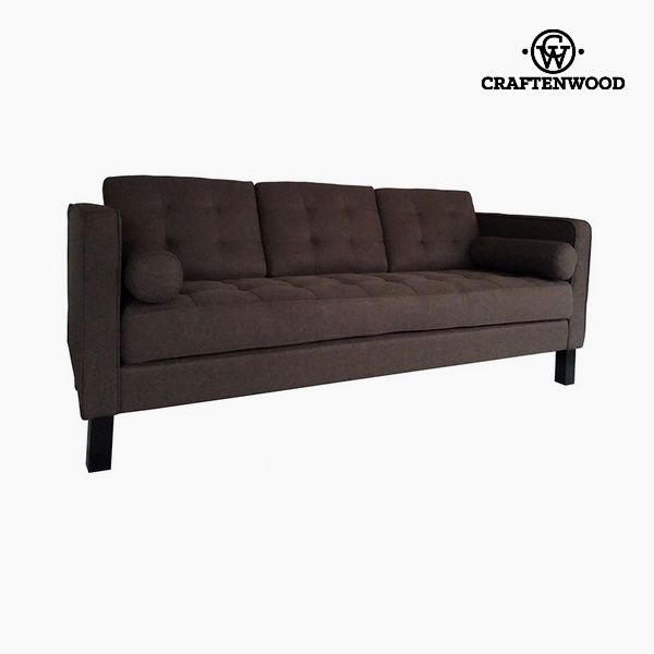 Image of   2 personers sofa Fyr Polyester Brun (203 x 81 x 81 cm) by Craftenwood