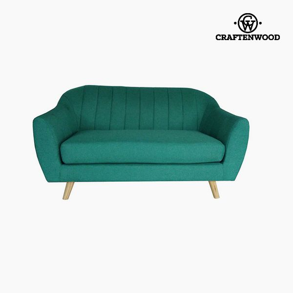 Image of   2 personers sofa Fyr Polyester Grøn (145 x 83 x 83 cm) by Craftenwood
