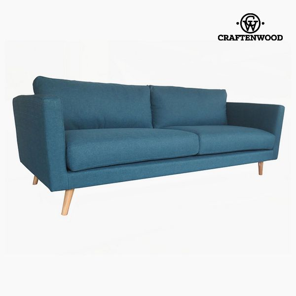 Image of   3 personers sofa Fyr Polyester Blå (211 x 88 x 83 cm) by Craftenwood