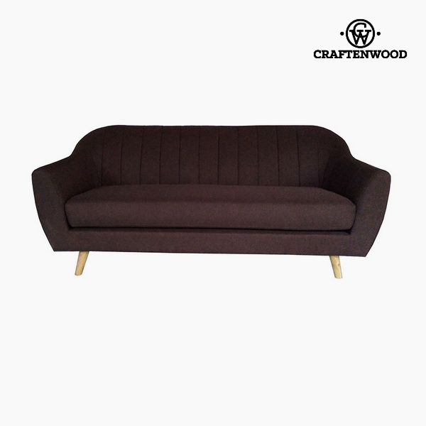 Image of   3 personers sofa Fyr Polyester Brun (195 x 83 x 83 cm) by Craftenwood