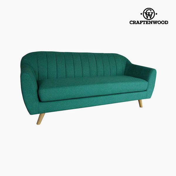 Image of   3 personers sofa Fyr Polyester Grøn (195 x 83 x 83 cm) by Craftenwood