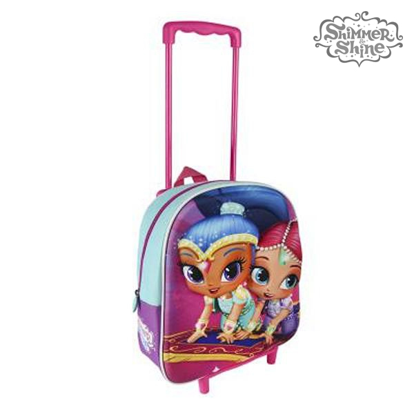 Image of   3D Skoletaske med Hjul Shimmer and Shine 913