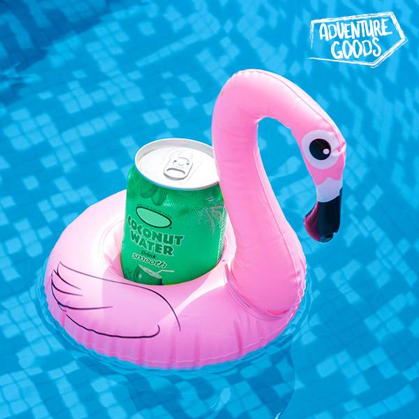 Image of Adventure Goods Flamingo Oppustelig Dåseholder