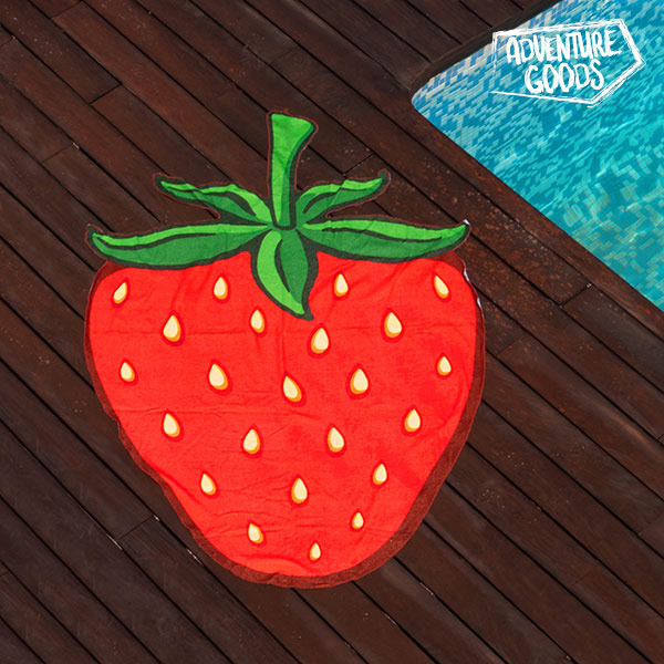 Image of   Adventure Goods Strandhåndklæde Jordbær