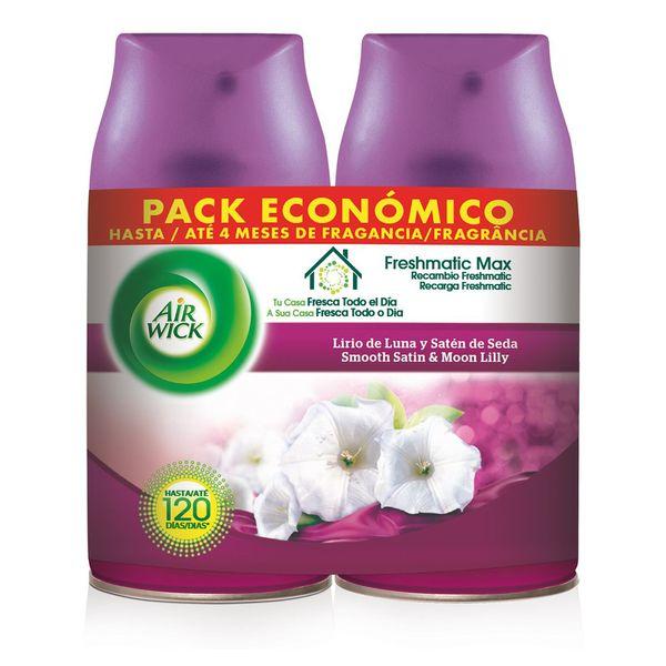 Image of Air Wick Life Scents FreshMatic Duplo Måne Iris og Satin Silke Genopfyldning 2 x 250 ml