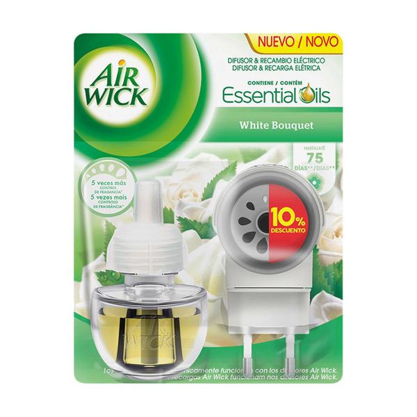 Image of Air Wick White Bouquet Elektrisk Luftfrisker og Refill