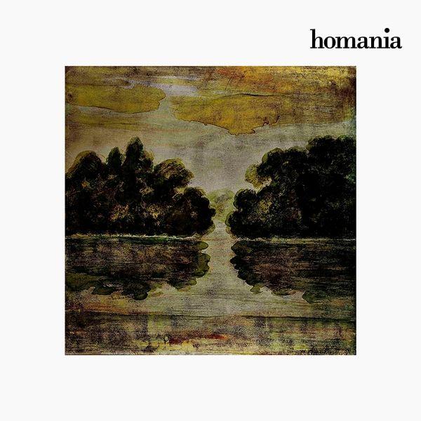 Image of   Akrylmaleri Landskab (88 x 88 cm) by Homania