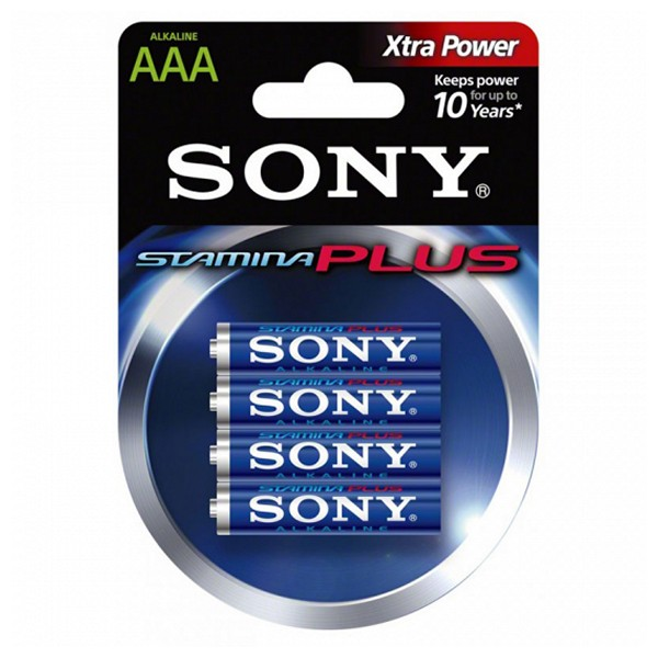 Image of   Alkaline Batteri Sony AM4L-B4D AM4L-B4D 1,5 V AAA (4 pcs) Blå Grøn
