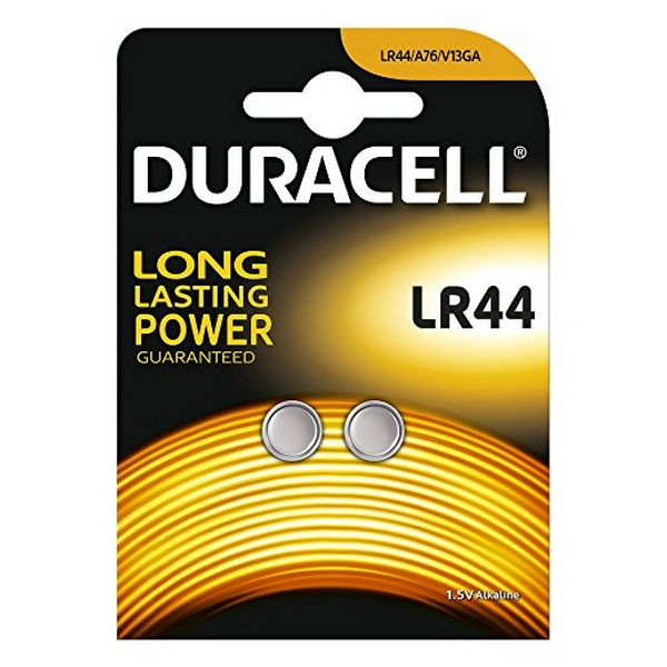 Image of   Alkaline Button Cell Batteries DURACELL DRBLR442 LR44 1.5V (2 pcs)