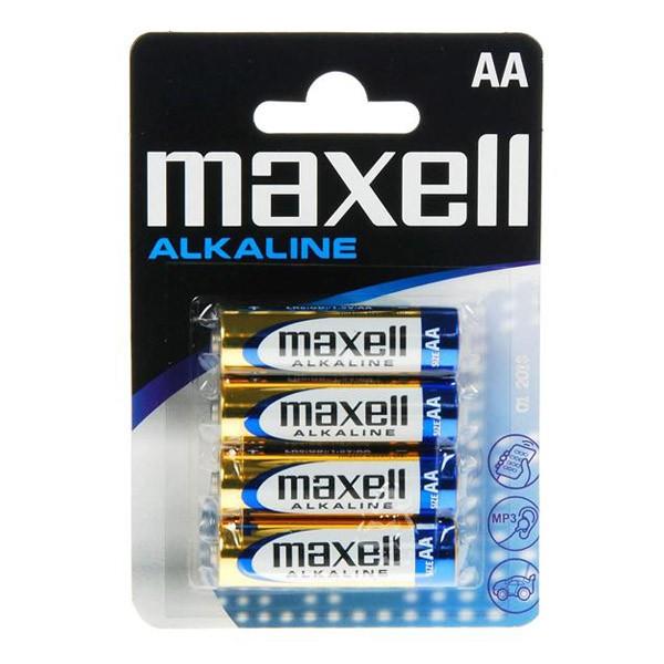 Image of   Alkalinebatterier Maxell 1.5V AA PK4 AA 1,5 V