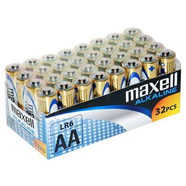 Image of   Alkalinebatterier Maxell MXBLR06P32 LR06 AA 1.5V (32 pcs)