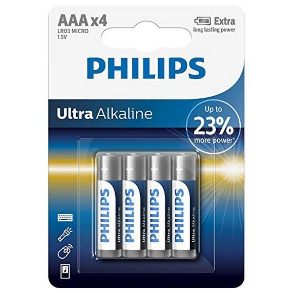 Image of   Alkalinebatterier Philips LR03 AAA LR03 (4 pcs)
