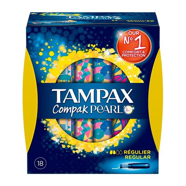 Image of   Almindelig tamponer Pearl Compak Tampax (18 uds)