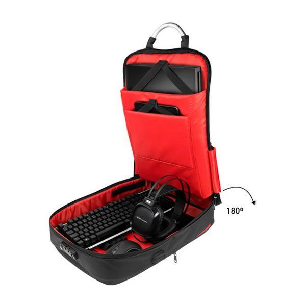 """Image of   Antityveri rygsæk med USB og tablet og bærbar computer ruminddeling Mars Gaming MB2 17"""""""