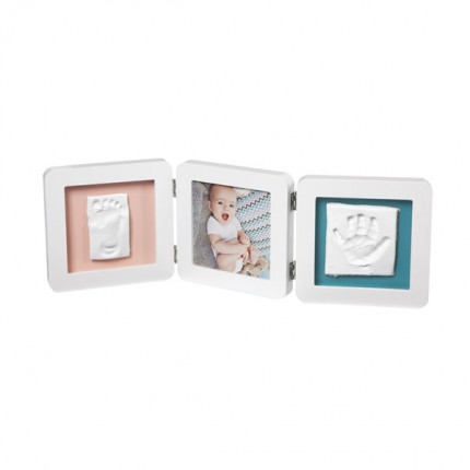 Image of   Baby Art My Baby Touch 2 Cast with Photo Frame White