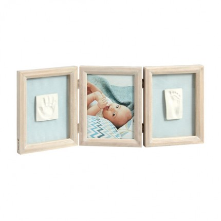 Image of   Baby Art My Baby Touch Double Print Frame Stormy