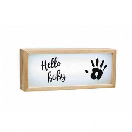 Image of   Baby Art Wooden Collection Lightbox with Imprint