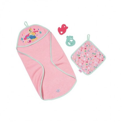 Image of   BABY Born Bath Hooded Towel Set
