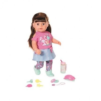 Image of   BABY Born Blød Søster med brunt hår 43 cm