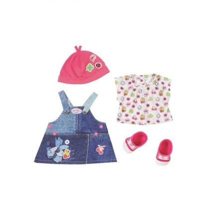 Image of   BABY Born Deluxe Jeans Outfit Kjole 43cm