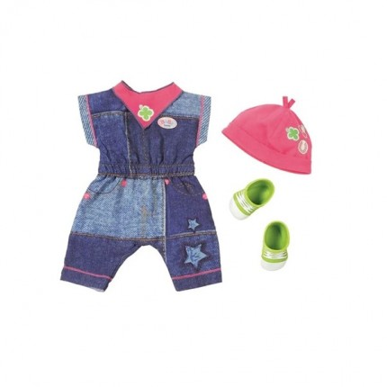 Image of   BABY Born Deluxe Jeans Outfit Smækbuks 43cm