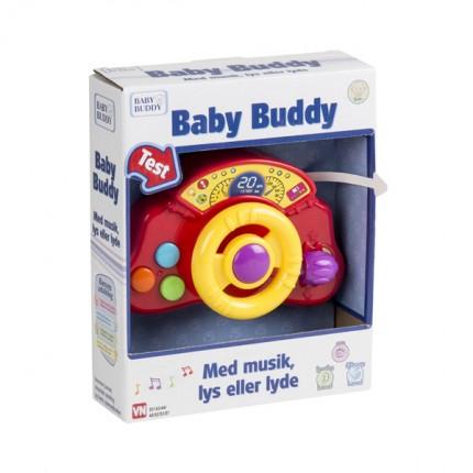 Image of   Baby Buddy Bilrat med lys og lyde