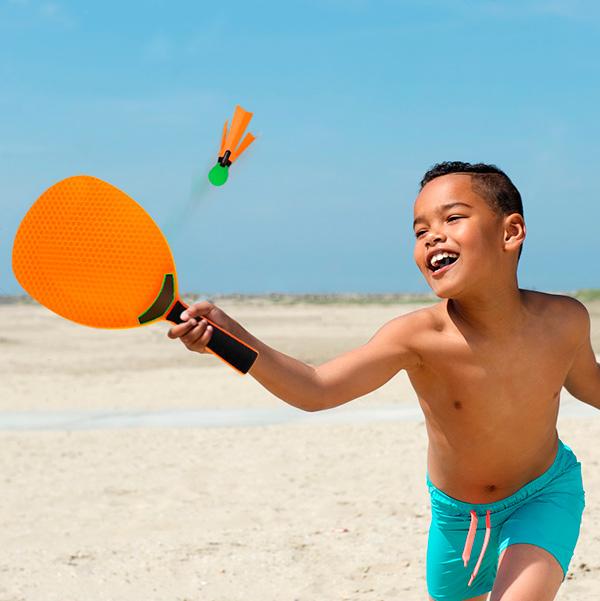 Image of   Badminton Strandsæt (4 dele) Intex