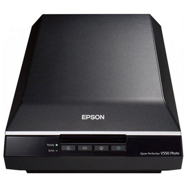 Image of   Bærbar scanner Epson Perfection V550 Photo B11B210302 6.400 ppp 3,4 Dmax A4 USB 2.0 B