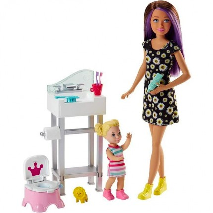 Image of   Barbie Babysitter Sæt m. Potte