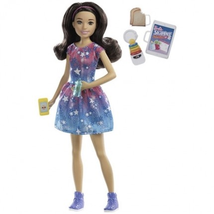 Image of   Barbie Babysitter Skipper Stjernet Kjole