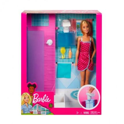 Image of   Barbie Badeværelse med dukke