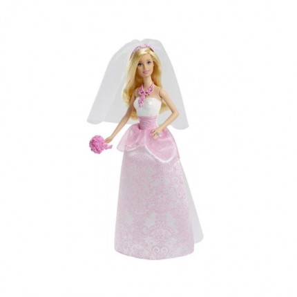 Image of   Barbie Brud med brudebuket