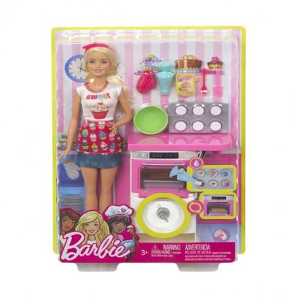 Image of   Barbie Careers Dukke med Bagesæt