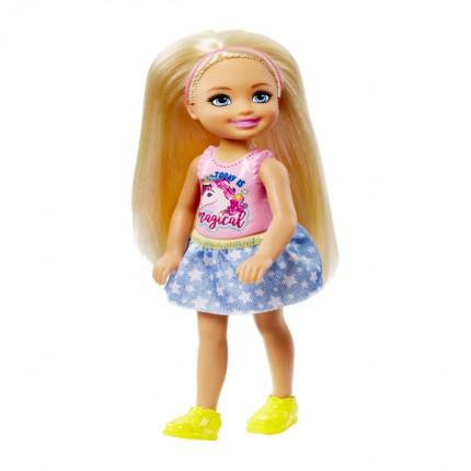 Image of   Barbie Chelsea Blondine Dukke - Lyserødt Hårbånd