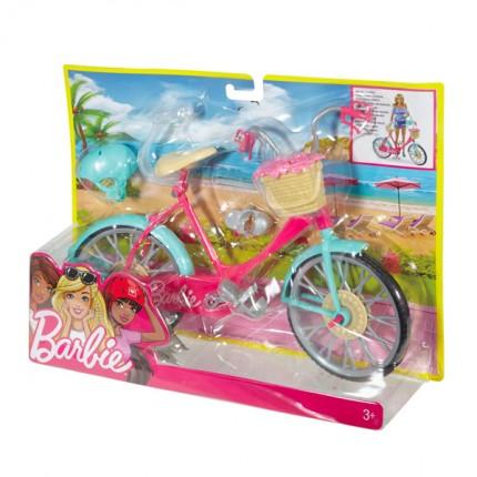 Image of   Barbie cykel med tilbehør