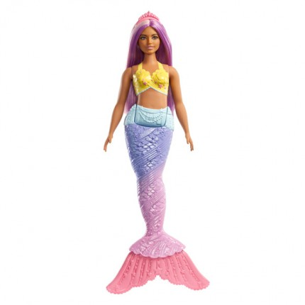 Image of   Barbie Dreamtopia havfrue med lilla hår