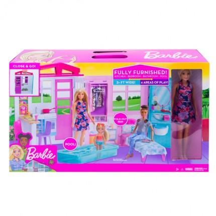 Image of   Barbie Hus & Dukke
