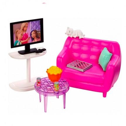 Image of   Barbie Tv-stue Legesæt