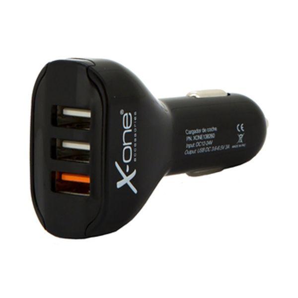 Image of   Biloplader Ref. 138260 3 x USB-A Sort