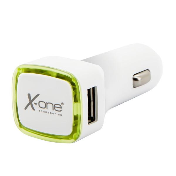 Image of   Biloplader Ref. 138413 2 x USB-A Hvid Grøn