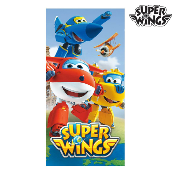 Image of   Blue Super Wings Strandhåndklæde