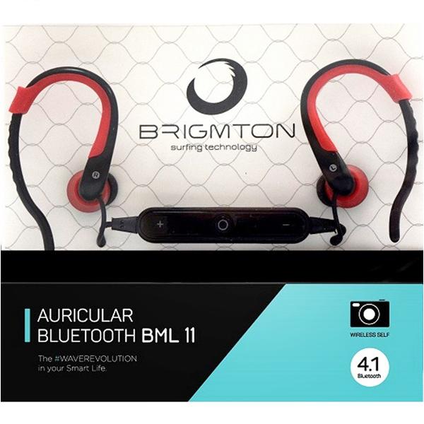 Image of   Bluetooth headset med mikrofon BRIGMTON BML-11-R Rød