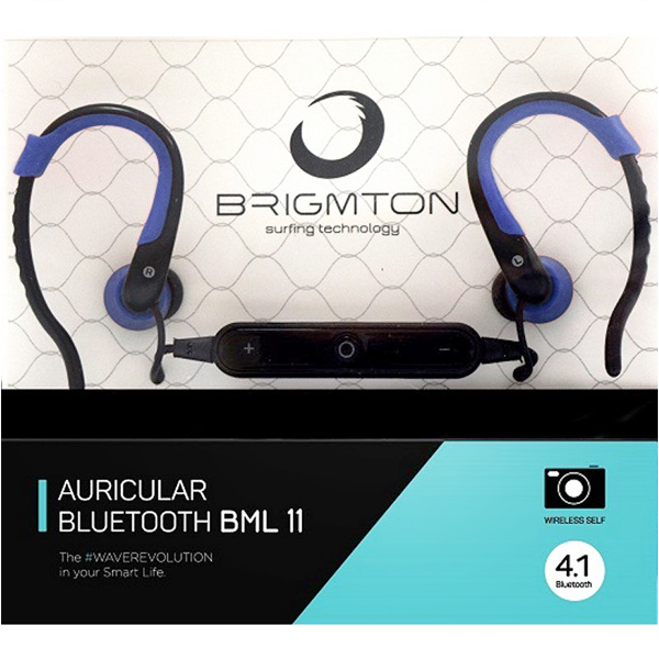 Image of   Bluetooth sports headset med mikrofon BRIGMTON BML-11-A Blå