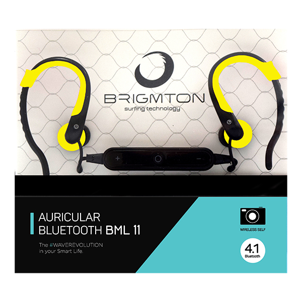 Image of   Bluetooth sports headset med mikrofon BRIGMTON BML-11 Gul