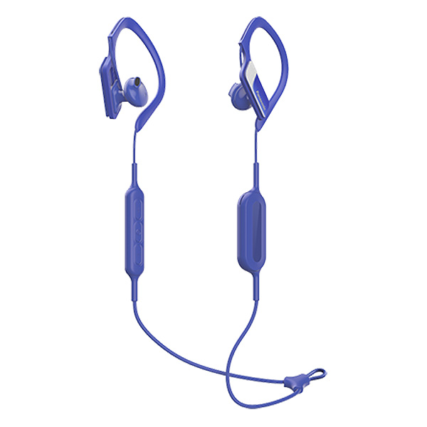 Image of   Bluetooth sports headset med mikrofon Panasonic RP-BTS10E-A Waterproof Blå